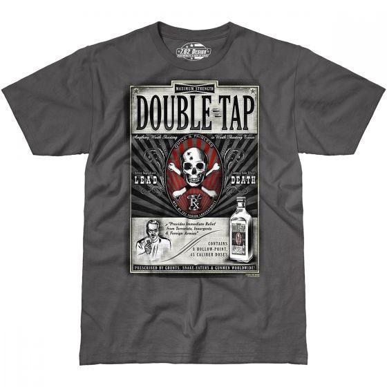 7.62 Design Double Tap T-Shirt Charcoal