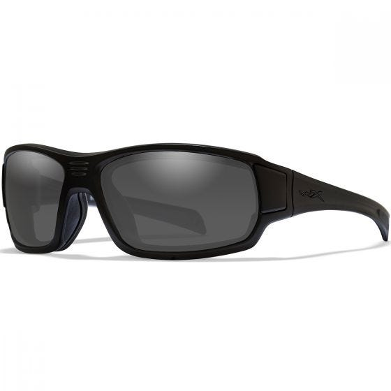 Wiley X WX Breach Glasses - Smoke Grey Lens / Matte Black Frame