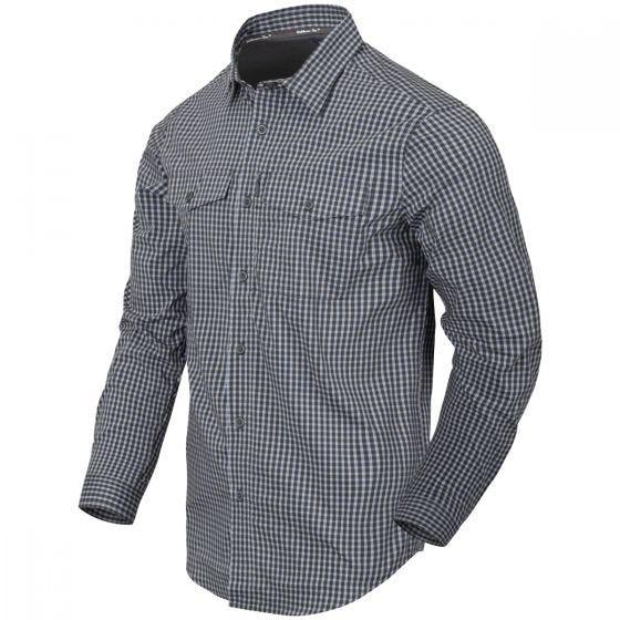 Helikon Covert Concealed Carry Shirt Phantom Grey Checkered