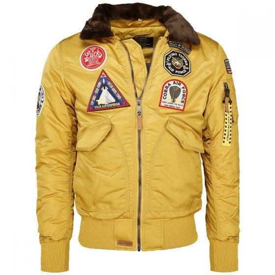 Mil-Tec Top Gun Flight Jacket Flying Tigers Yellow