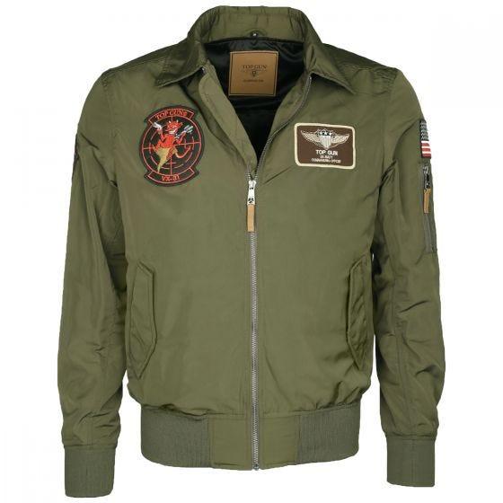 Mil-Tec Top Gun Flight Jacket Hornet Olive Drab