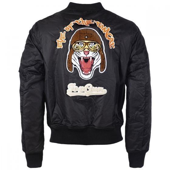 Mil-Tec Top Gun Flight Jacket Tomcat Black