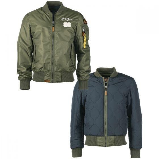 Mil-Tec Top Gun Flight Jacket Tomcat Olive Drab