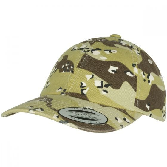 YP Low Profile Camo Washed Cap Sandstorm