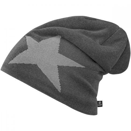 Brandit Beanie Star Cap Anthracite Melange