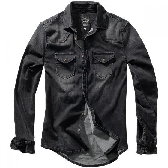 Brandit Riley Denim Shirt Black