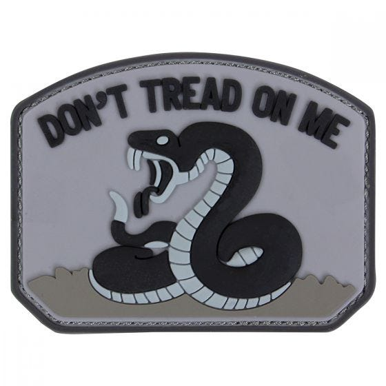 Condor Don't Tread On Me PVC Patch Black