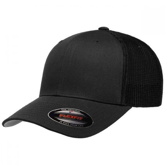Flexfit Mesh Trucker Cap Black
