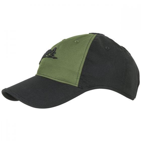 Helikon Logo Cap Polycotton Ripstop Black / Olive Green