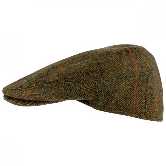 Jack Pyke Wool Blend Flat Cap Tweed Brown