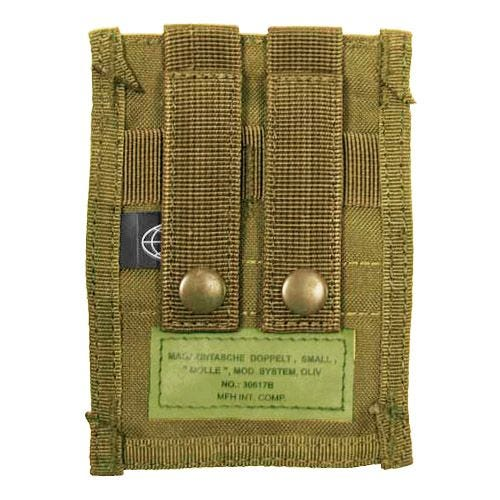 MFH Double 9mm Magazine Pouch Small MOLLE Coyote