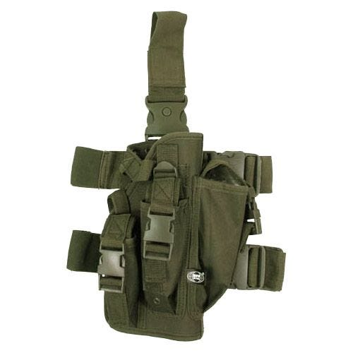 MFH Leg Holster with 3 Mag Pouches Olive