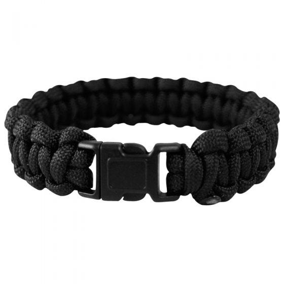 Mil-Tec Paracord Wrist Band 22mm Black