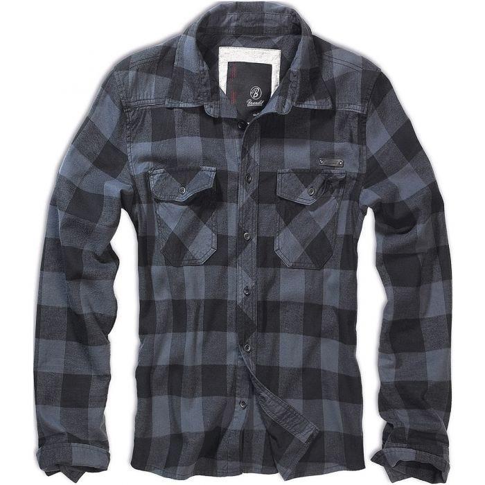 Brandit Check Shirt Black / Grey