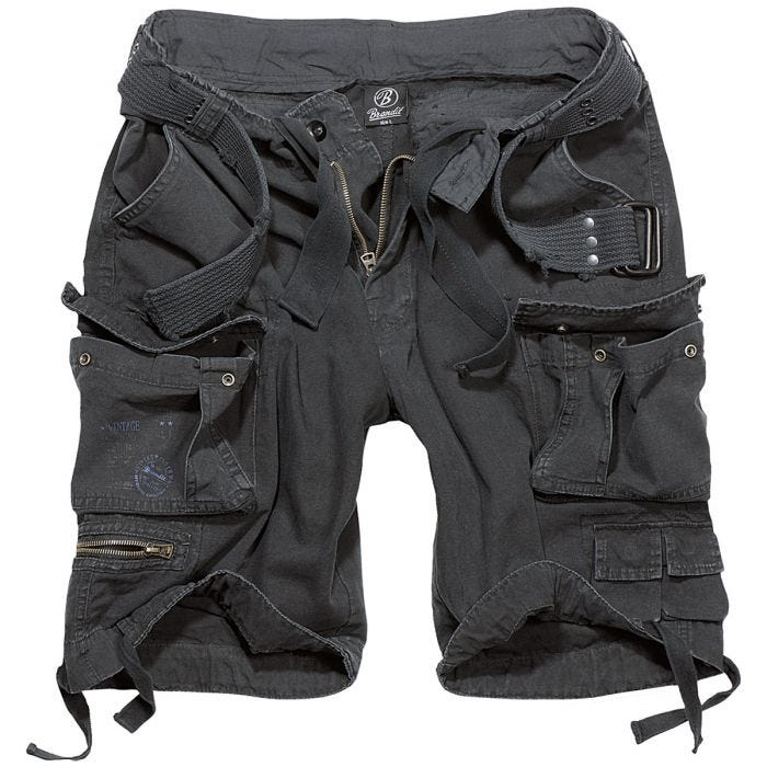 Brandit Savage Vintage Shorts Black