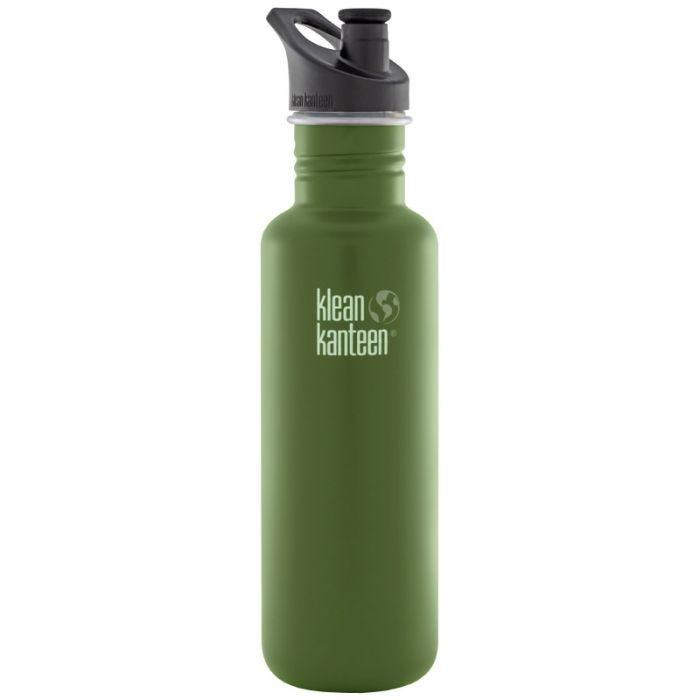 Klean Kanteen Classic 800ml Bottle with Sport Cap 3.0 Green Fatigue