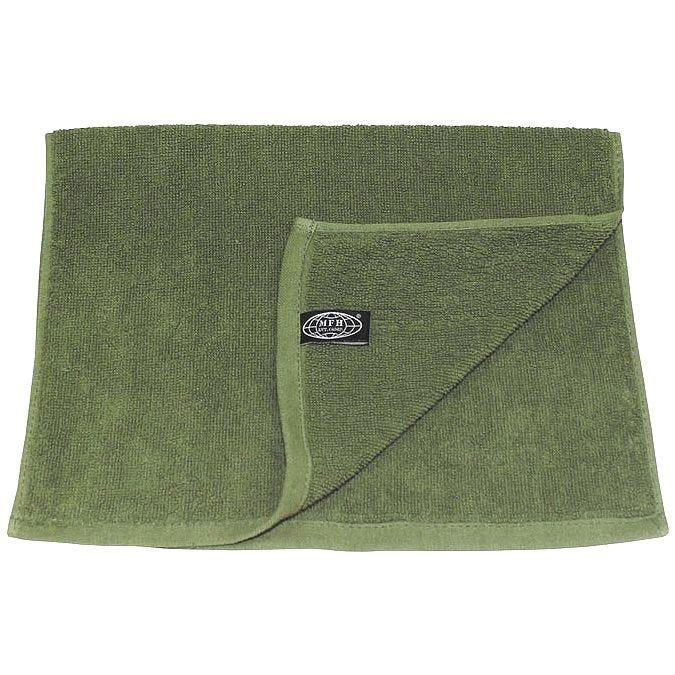 MFH 30x50cm Terry Cloth Towel OD Green