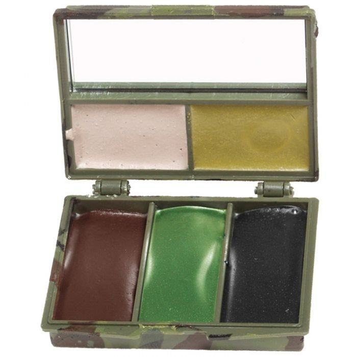 Mil-Tec Camo Face Paint 5 Colours with Mirror Woodland