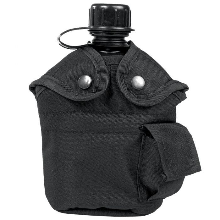 Mil-Tec US Style Canteen and Cup Black