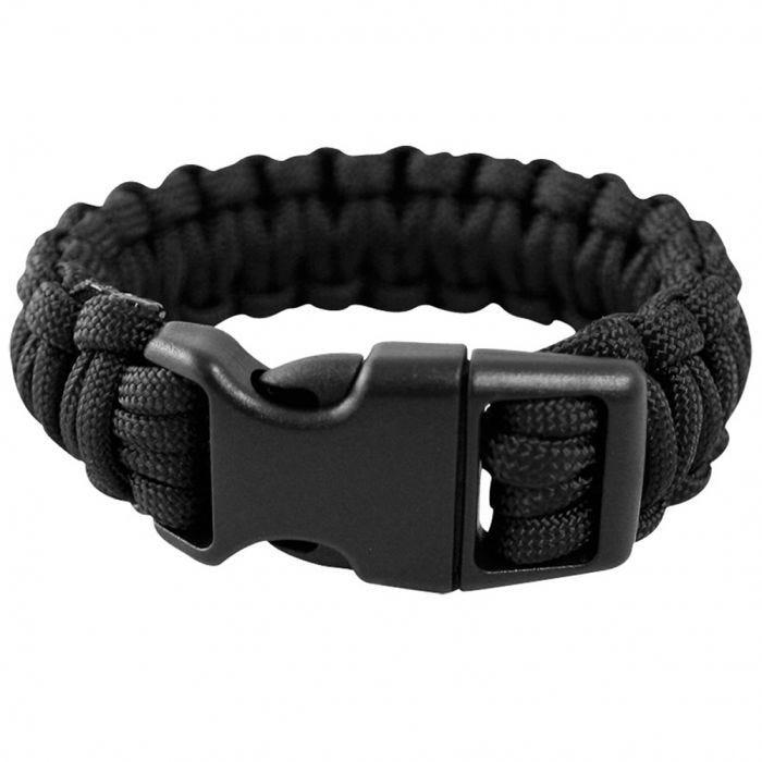 Mil-Tec Paracord Wrist Band 15mm Black
