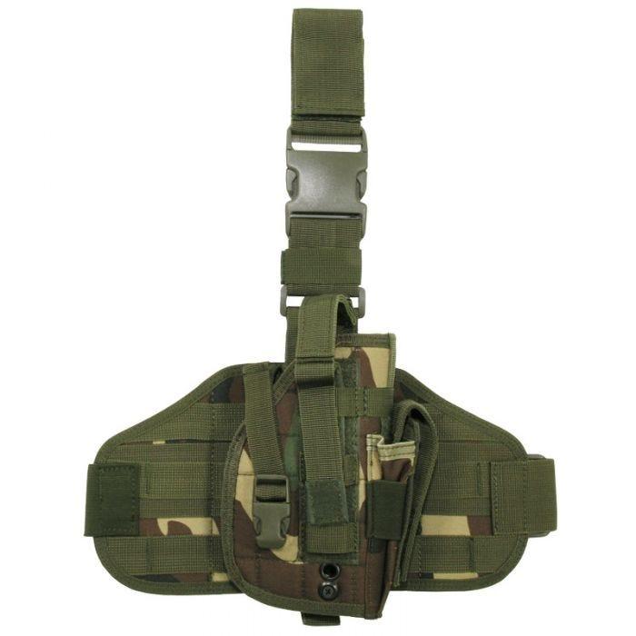 MFH Tactical Leg Holster MOLLE Woodland