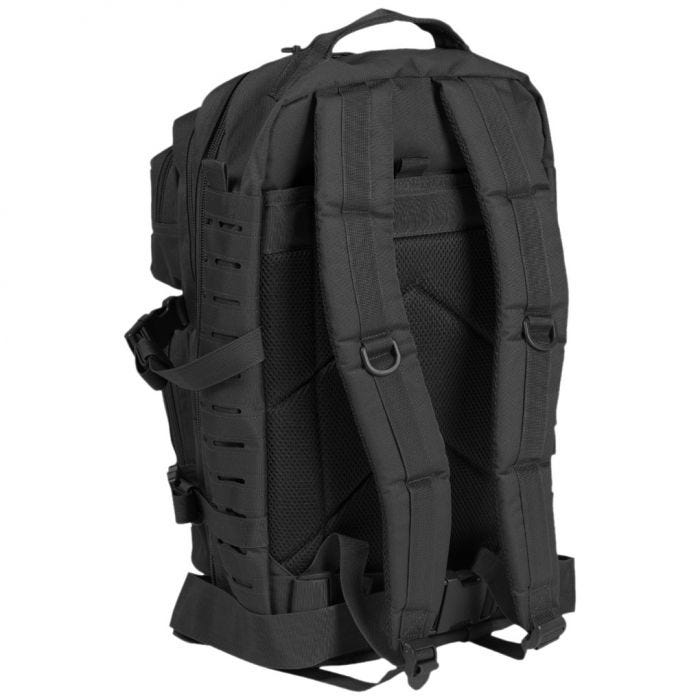 Mil-Tec US Assault Pack Large Laser Cut Black