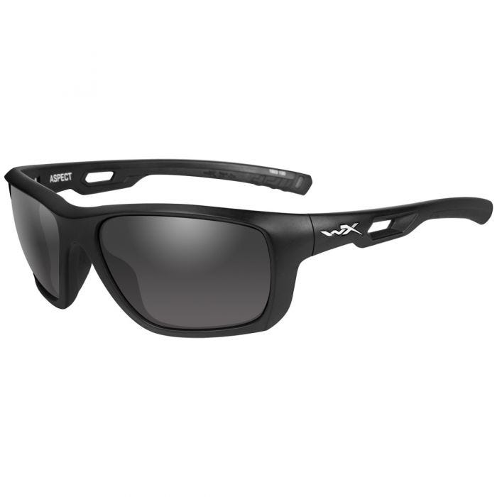 Wiley X WX Aspect Glasses - Smoke Grey Lens / Matte Black Frame