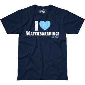 7.62 Design I Love Waterboarding T-Shirt Navy