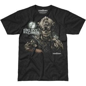 7.62 Design I Believe In Ghosts T-Shirt Black