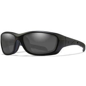 Wiley X WX Gravity Glasses - Captivate Polarized Smoke Grey Lens / Matte Black Frame