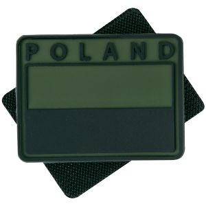 Helikon Polish Subdued Flag Patch with Poland Print Olive Green Set of 2