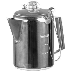 Mil-Tec Stainless Steel Coffee Pot With Percolator (9 Cups)