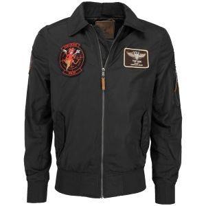 Mil-Tec Top Gun Flight Jacket Hornet Black