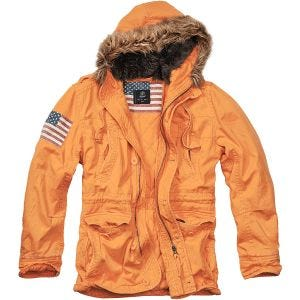 Brandit Vintage Explorer Stars & Stripes Jacket Orange