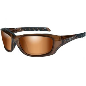 Wiley X WX Gravity Glasses - Bronze Flash Lens / Brown Crystal Frame