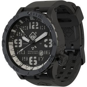 Hazard 4 Heavy Water Diver Titanium Tritium Watch Nightwatch White GMT Blue/Red