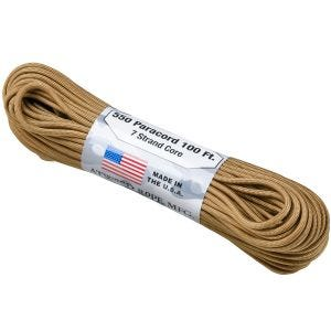 Atwood Rope 550 Lbs. Para Cord Coyote