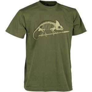 Helikon Chameleon Skeleton T-shirt US Green