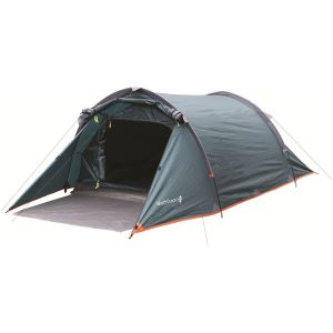 Highlander Blackthorn 2 Tent Hunter Green/Orange Trim