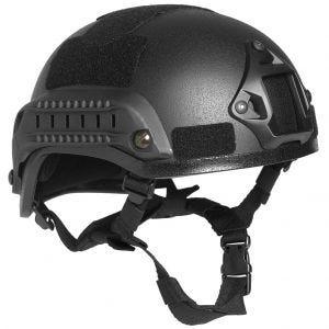 "Mil-Tec US Combat ""M.I.C.H. 2001"" Railed Helmet Black"