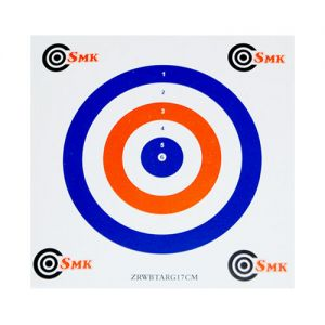 SMK Red White Blue 17cm Card Targets (100 Pack)