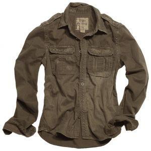 Surplus Raw Vintage Long Sleeve Shirt Brown