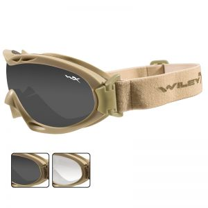 Wiley X Nerve Goggles - Smoke Grey + Clear Lens / Tan Frame