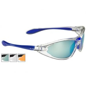 Swiss Eye Constance Sunglasses - Smoke BW Revo + Orange + Clear Lens / Crystal Blue Frame