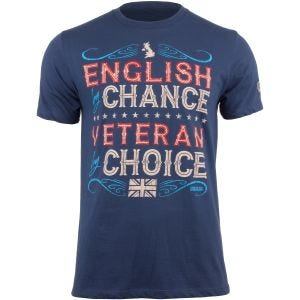 7.62 Design Veteran By Choice English T-Shirt Indigo Blue