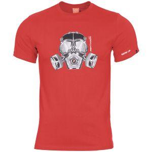 Pentagon Ageron Gas Mask T-Shirt Lava Red