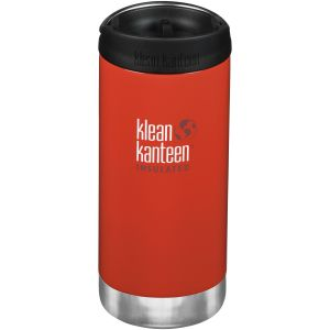 Klean Kanteen TKWide 355ml Insulated Bottle Cafe Cap Post Box Red