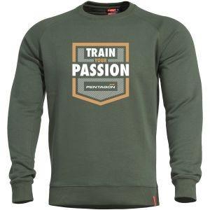 Pentagon Hawk Sweater Train your Passion Camo Green