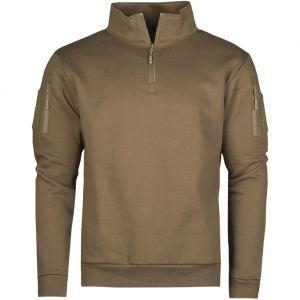 Mil-Tec Tactical Sweatshirt with Zipper Dark Coyote