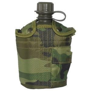 Mil-Tec Canteen with Cover 1 Litre Woodland